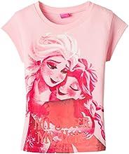 Disney Girls' T-Shirt (PYG001B_Light Pink_3-4 Years)