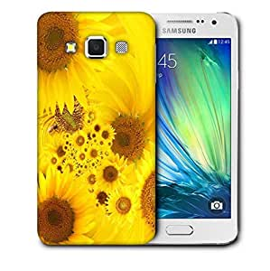 Snoogg Yellow Sunflowers Printed Protective Phone Back Case Cover For Samsung Galaxy A3