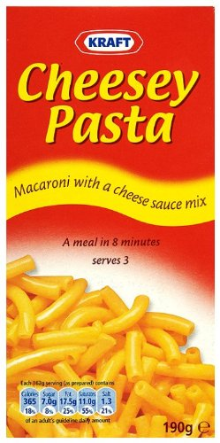 Kraft Cheesey Pasta 190 g (Pack of 12)