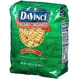 DaVinci Pasta Organic, Rotini, 16 Ounce Bags (Pack Of 12)