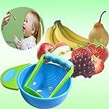 #8: Chronex Mash and Serve Bowl for Making Homemade Baby Food BPA Free- Blue