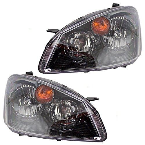 Driver and Passenger Halogen Headlights Headlamps Replacement for Nissan 26060ZB525 26010ZB525 (2006 Nissan Altima Headlights compare prices)