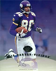 Cris Carter Autographed Hand Signed 8x10 Photo (Minnesota Vikings) by Hall of Fame Memorabilia