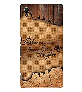 Bless Love Laughter 3D Hard Polycarbonate Designer Back Case Cover for Sony Xperia Z3+ :: Sony Xperia Z3 Plus
