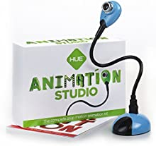 HUE Estudio de Animación (Azul) para PCs Windows y Apple Mac OS X: Kit completo para la realización de animaciones stop motion. Incluye cámara, software y libro.