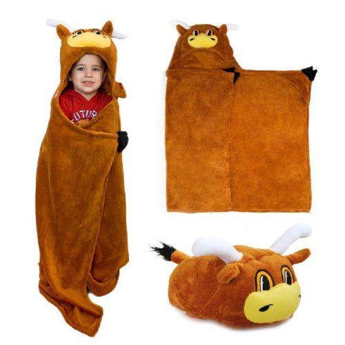Texas Longhorns MascotWear Huggable Hooded Blanket