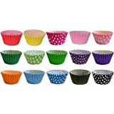 180 Gorgeous Mixed Colour Muffin Cases