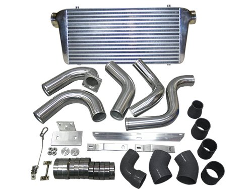 Fmic Front Mount Intercooler Kit For 89-91 Dodge Ram Cummins 5.9L Diesel Black Hose