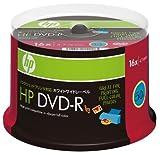 HP データ用DVD-R 16倍速対応 ホワイトワイドプリンタブル 50枚スピンドルパック DVD-R4.7HPWBX50S