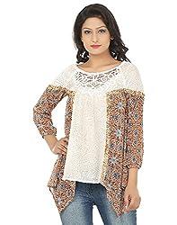 Adhaans Casual 3/4 Sleeve Self Design Women's Top
