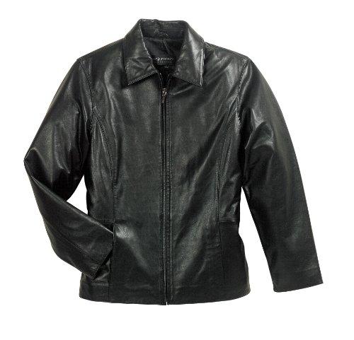 Port Authority Ladies Park Avenue Lambskin Jacket-4XL (Black)