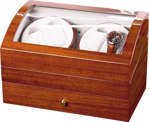 Auer Accessories Artemis 722SP Watch Winder For 4 Watches Precious wood