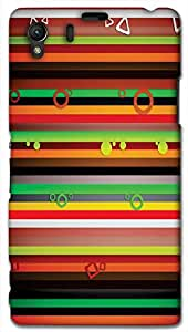 Timpax Protective Hard Back Case Cover With access to all controls and ports Printed Design : Colourful Pattern.Specifically Design For : Sony L39-H ( Sony 39 )