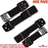 Best-Anti-Tip-Safety-Straps-by-BabyKeeps–Anchor-Flat-Screen-TV-or-Furniture–Maximum-Strength–No-Plastic–Mounting-Hardware-Included–1-Pair–Protect-a-Child-We-Donate-to-Shanes-Foundation