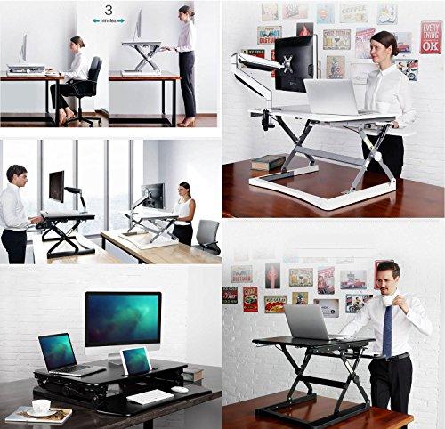 ergoneer vorkonfektionierter gesunde sitz steh erhebend computer arbeitsplatz ergonomie. Black Bedroom Furniture Sets. Home Design Ideas