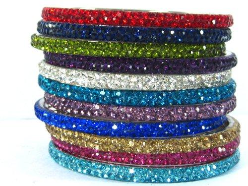 Crystal Bracelet India Crystal Bracelet Bangle 2-row