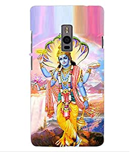 ColourCraft Lord Vishnu Design Back Case Cover for OnePlus Two