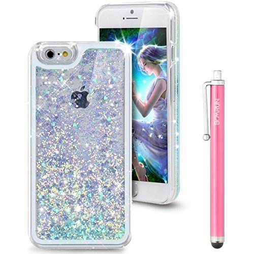 iPhone-6S-Case-Liquid-Case-for-iPhone-6SFlowing-Liquid-Floating-Luxury-Bling-Glitter-Sparkle-Love-Heart-Hard-Case-for-Apple-iPhone-6S-2015-iPhone-6-2014LoveBlue