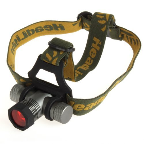 Anpress® 300Lm Zoomable Cree Q5 Led Green / Red / Blue Diffuser Headlamp Light + 2 Batteries + Charger