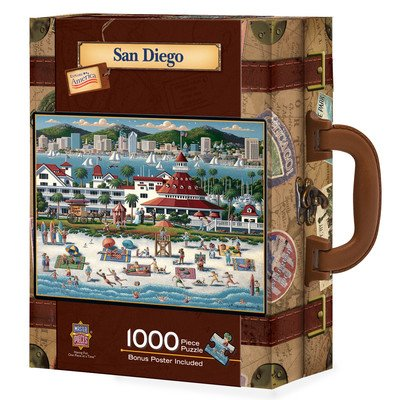 Masterpieces ~ Collector Suitcase 1000-Piece Puzzle 'San Diego'