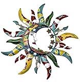 World Best Sun Moon & Stars Metal Wall Hanging Garden Art 24 - Mardi Gras Style