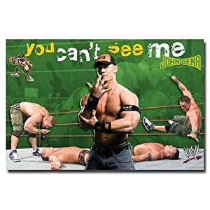 (22x34) John Cena (You Can't See Me, Action) Sports Poster Print