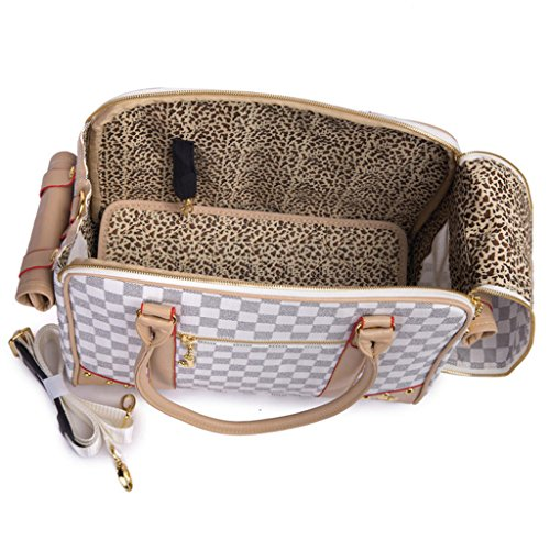 PetsLove Pet Carrier Small Animal Carrier Portable Dog Handbag Dog Purse for Outdoor Travel Walking Hiking Coffee