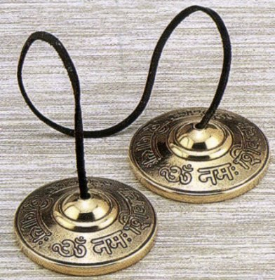 """Om Nama Shiva"" Tingsha Cymbals 2.5""-#Bf004"