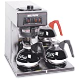 BUNN 13300.0003 VP17-3SS3L Pourover Commercial Coffee Brewer with Three Lower Warmers, Stainless Steel