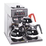 BUNN 13300.0003 VP17-3SS3L Pourover Commercial Coffee Brewer with Three Lower Warmers, Stainless Steel Best Deals