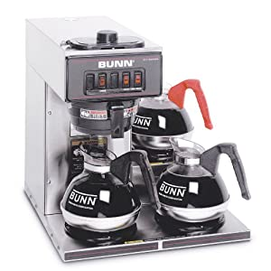 BUNN 13300.0003 VP17-3SS3L Pourover Commercial Coffee Brewer with Three Lower Warmers,... by Bunn