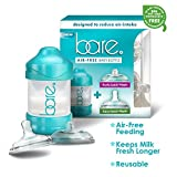 Bare® Baby Bottle w/ Breastfeeding & Bottle Feeding Nipples – Patented Air Free & Flow Control Technology – Perfect Baby Registry Shower Gift – 4 Oz Bottle Pack