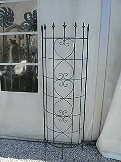 rankgitter metall halbrund zum stecken steckzaun 120 x. Black Bedroom Furniture Sets. Home Design Ideas