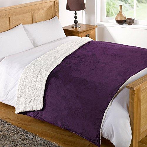 Just Contempo Sherpa, Viola, 200x 240cm, Poliestere, Aubergine Purple, 200 x 240 cm