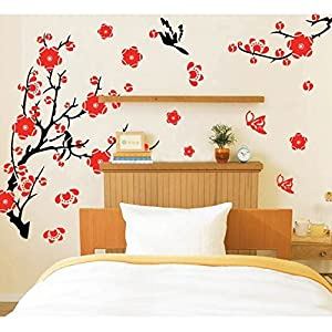 K9D Blossom Flowers Tree Wall Stickers Mural Art Decal Self Adhesive Wallpaper Decor 8.7 by K9D