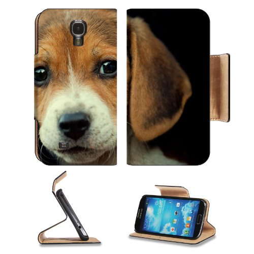 Dog Muzzle Beagle Puppy Portrait Closeup Pets Samsung Galaxy S4 Flip Cover Case With Card Holder Customized Made To Order Support Ready Premium Deluxe Pu Leather 5 Inch (140Mm) X 3 1/4 Inch (80Mm) X 9/16 Inch (14Mm) Liil S Iv S 4 Professional Cases Access
