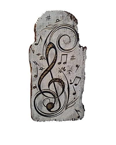 Mariani Affreschi Holztafel La Musica - Chiave Di Sol