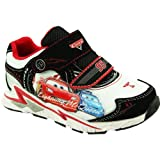 DISNEY Cars Athletic Shoe (Toddler/Little Kid),White/Black,6 M US Toddler