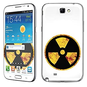 Samsung [Galaxy Note 2] Skin [NakedShield] Scratch Guard Vinyl Skin Decal [Full Body Edge] [Matching WallPaper] - [Nuclear Sign] for Samsung Galaxy [Note 2]
