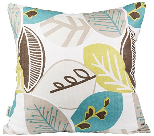 "Lowest Prices! BLUETTEK Leaf Pattern Canvas 18"" X 18"" canvas Decorative Throw Pillow Cover..."