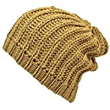 Luxury Divas Thick Chunky Knit Tight Beanie Cap