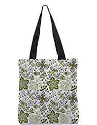 Snoogg Colorful Floral Seamless Pattern In Cartoon Style Seamless Pattern Designer Poly Canvas Tote Bag - B012FUI9BO