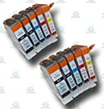 10 Chipped Compatible Canon PGI-5 & CLI-8 Ink Cartridges for the Canon Pixma iP5200 Printer