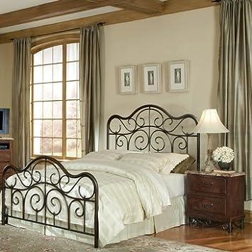 Standard Furniture Santa Cruz 2 Piece Metal Bedroom Set in Cherry