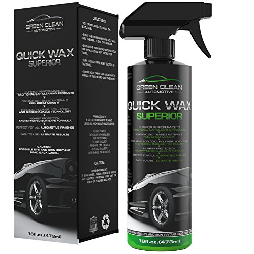 Green Clean Automotive - Quick Wax Superior - Best Ecological Car Care Product - Powerful and Effective Spray for All Automotive Finishes - Ultimate Shine - Highest Protection - 16 oz (Car Waterproof Wax compare prices)