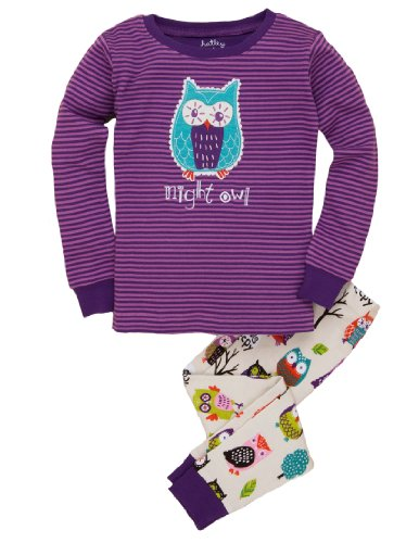 Hatley Big Girls' Pajama Set-Party Owls, Multi, 7 back-78287