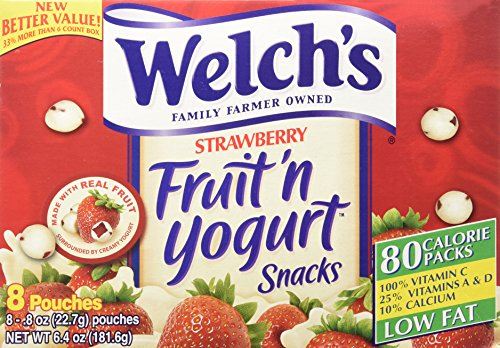 Welch's Strawberry Fruit'n Yogurt Snacks 8 Pouches (Fruit And Yogurt Snacks compare prices)
