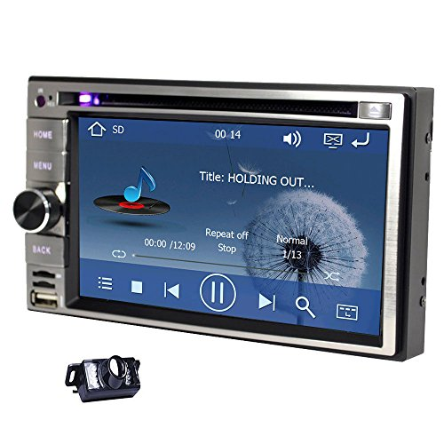 Navigation Seller - Privileged Sale Universal Car Double Din In-Dash GPS Navigation With 6.2 inch Digital Touch Screen support ipod USB SD Remote Control free 8gb gps map Card & Free Backup Camera (Dual Head 2 Go compare prices)