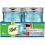 Ball Regular Mouth Elite Collection Half Pint Jars (4 Pack), Blue