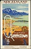VPS 1930s New Zealand Queenstown Travel Poster reprint A3